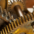 Dirty industrial gears background - Stock Photo