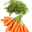 Stock Photo: Bunch of fresh carrots