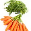 Foto de Stock  : Bunch of fresh carrots