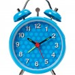 Blue alarm clock — Stock Photo