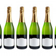 Six champagne bottles — Stock Photo