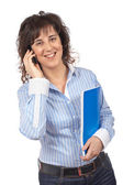 Female with phone — Stock Photo