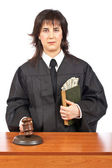 Justice accepting a bribe — Stock Photo