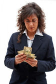 Business woman counting — Stock Photo