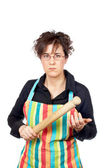 Angered housewife — Stock Photo