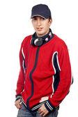 Handsome disc jockey — Stock Photo