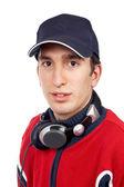 Disc jockey portrait — Stock Photo