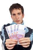 показаны вентилятор деньги — Стоковое фото