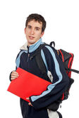 Young student with backpack — Stockfoto
