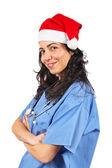 Kobieta lekarz boże narodzenie — Zdjęcie stockowe