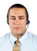 Hombre de soporte al cliente — Foto de Stock