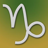 Capricorn Aluminum Symbol — Stock Photo