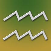 Aquarius Aluminum Symbol — Stock Photo