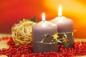 świece świąteczne — Zdjęcie stockowe
