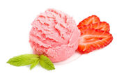 Delicious strawberry ice cream — 图库照片