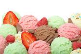 Palline di gelato — Foto Stock