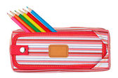 Red pencil case — Stockfoto