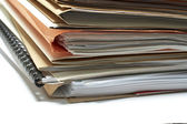 Heap of coloured files — Stock Photo