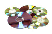 Cd un sfondo di dvd — Foto Stock