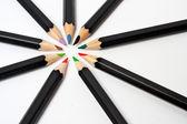 Colored school pencils — Stock Photo
