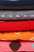 Several colors clothes stack — Stock Photo