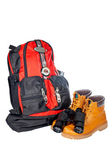 Mountain adventure kit — Stock Photo