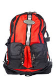 Black and red backpack — Stock Photo