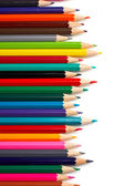 Assortment of coloured pencils — Foto Stock
