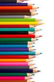 Sortiment av färgade pennor — Stockfoto