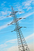 Power pole and cables — Stock Photo