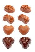 Assortment of fine chocolates — Stock Photo