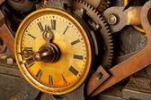 Starodawny tło zegar — Zdjęcie stockowe