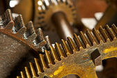 Dirty industrial gears background — Stock Photo