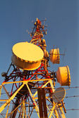 Telecomunications antennas — Stock Photo