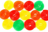 Multicolored licorices background — Stock Photo