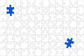 Puzzle with displaced piece — Stock Photo