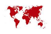 παγκόσμιος χάρτης — Φωτογραφία Αρχείου