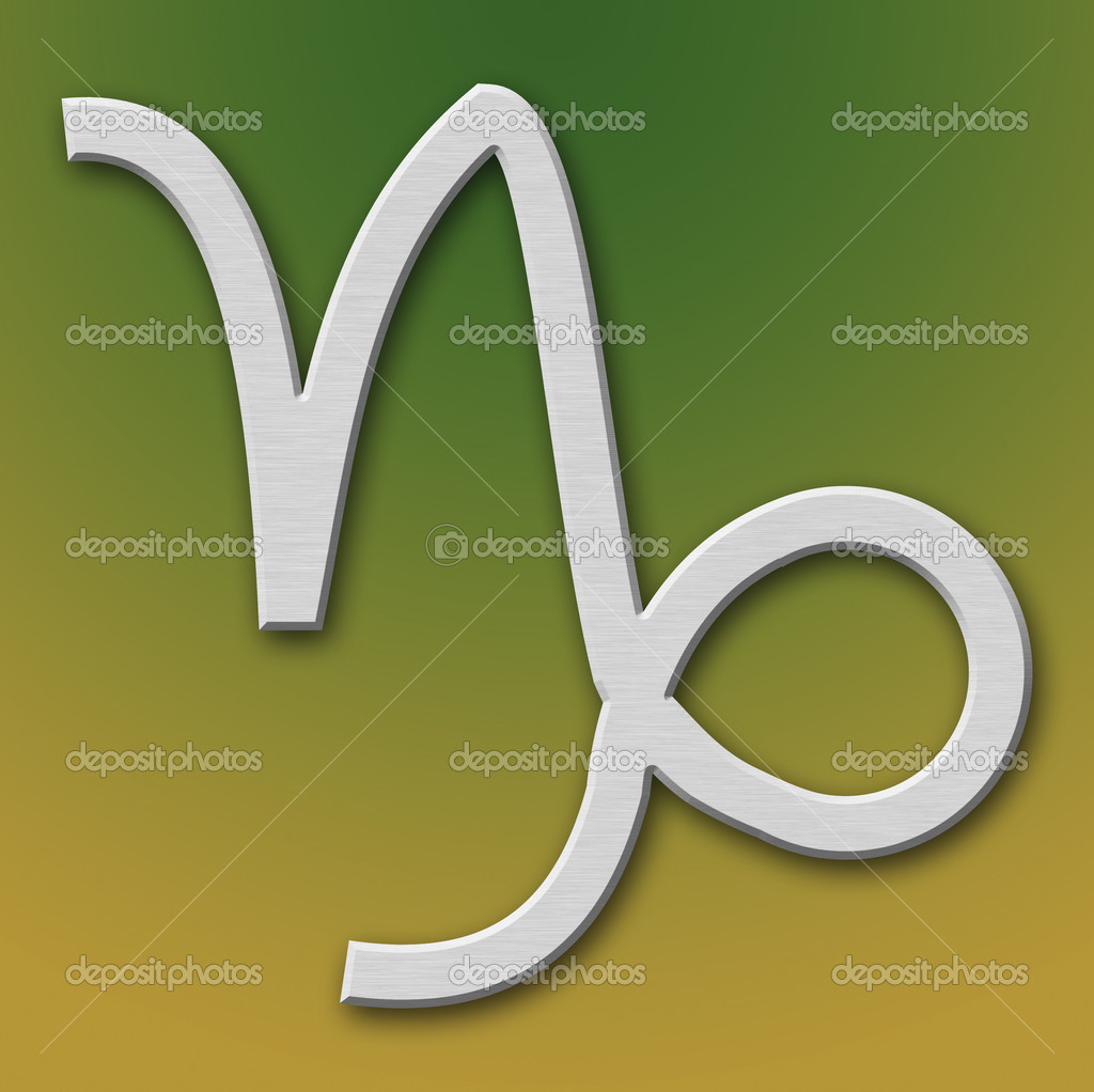 Capricorn Aluminum Symbol on background degraded — Stock Photo #5881554