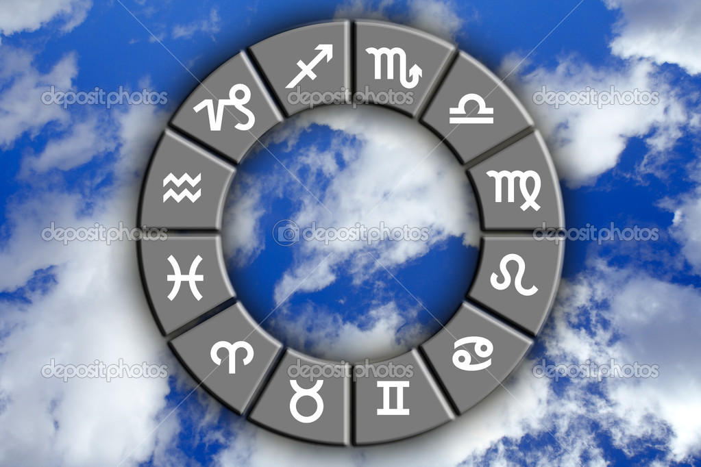 Astrological signs on blue sky — Stock Photo #5882477