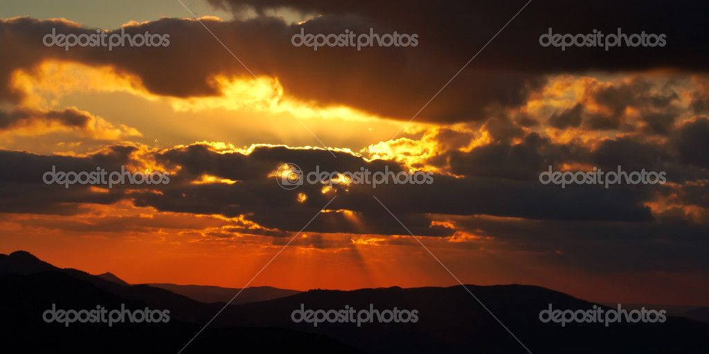 Sunset of spring season in Spain — Stock Photo #5882928