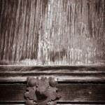 Antique wooden door — Stock Photo