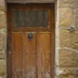 Antique wooden door — Stock Photo