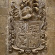 Carved stone coat of arms — Stock Photo
