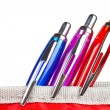 Three pens in a pencil case — Stock Photo