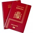 Two Spain passports - Foto Stock