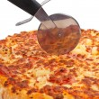 Italian pizza and cutter — Stock Photo #6339628