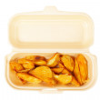 Potatoes on the box - Foto de Stock  