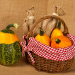 Yellow and green pumpkins — ストック写真