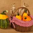 Stock Photo: Yellow and green pumpkins