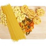 Set of uncooked pasta — Stock Photo #6339897